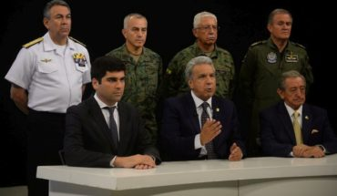 """Lenin Moreno took the government to Guayaquil and accused Correa and Maduro of """"boosting a coup d'état"""""""