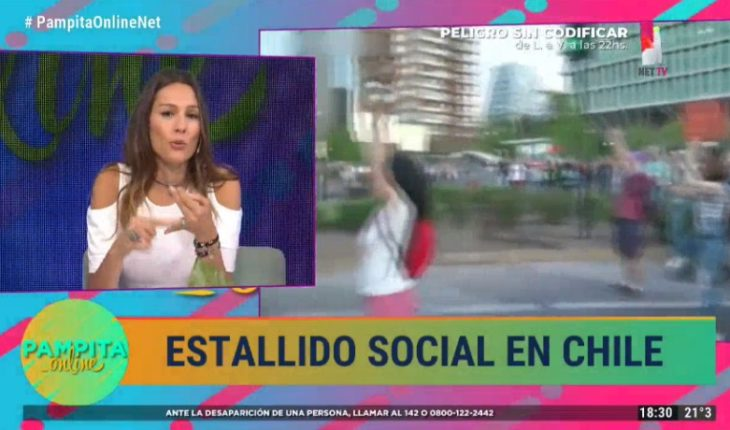 "Pampita by situation in Chile: ""If the people are reacting like this, it is because there is very great pain"""