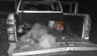 They find the body of a man in a raft van in Buenavista, Michoacán
