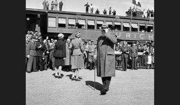 Llegada de Winston Churchill al aeropuerto de Dübendorf (Zúrich, Suiza) el 19 de septiembre de 1946. Foto: Keystone and RDB / SWI. Blog Elcano