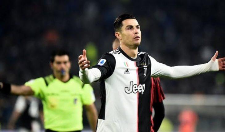Cristiano Ronaldo pidió el cambio y se fue molesto al vestidor de la Juventus