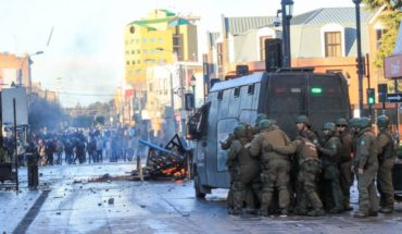 Attacks on police stations and fires: Carabineros carried out new stock of demonstrations this Friday