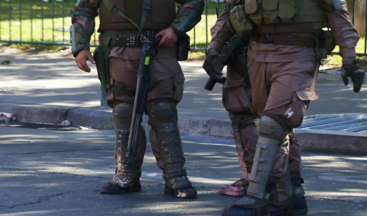 CDE filed complaints for DD infringement. Hh. committed by Carabineros