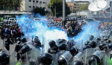Confrontation between elements of the SSP and the Federal Police dissatisfied with their incorporation into the GN