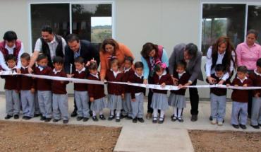 DIF Morelia delivers classroom in community of Jerécuaro, Michoacán