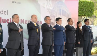 Government of Morelia commemorated the CIX Anniversary of the Mexican Revolution