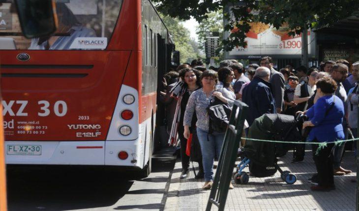 MTT detailed contingency plan for tomorrow Thursday in Santiago