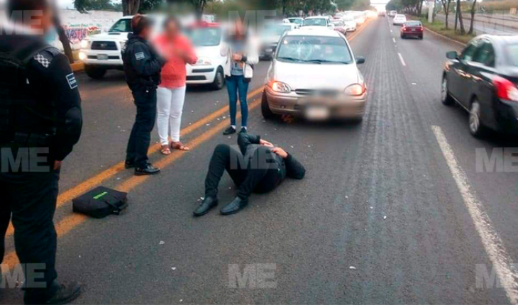 Subject is run over at Av. Madero Poniente, Morelia