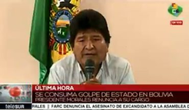 "[VIDEO] Evo Morales resigned from his tenure: ""The fight doesn't end here"""