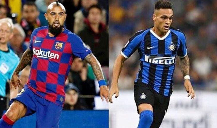 Arturo Vidal facilitaría la llegada de Lautaro Martínez al Barcelona