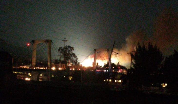 A fire occurs in santa martha's electrical substation (Videos)