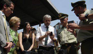 Carabineros received 310 body cameras to document procedures