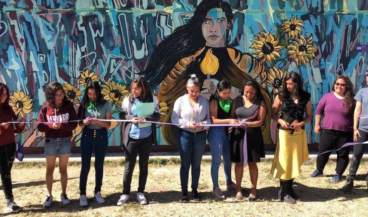 Ecatepec students who make anti-violence interventions