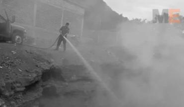 Garbage seized in La Pradera de Apatzingán colony, Michoacán