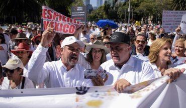 LeBaron's speech in protest in CDMX