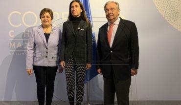 Minister Schmidt met with UN Secretary-General for COP25