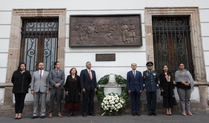 Morelia City Council commemorates the CCX Anniversary of the Valladolid Conspiracy