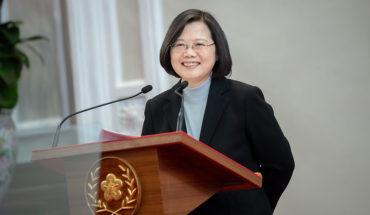 La presidenta electa de Taiwán, Tsai Ing-wen, durante su mensaje de año nuevo (1/1/2020). Foto: Makoto Lin / Office of the President. Taiwan Presidential Office (CC BY 2.0). Blog Elcano
