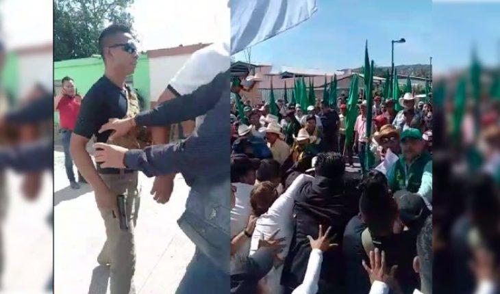 AMLO Aid member drew weapon in UNTA member protests in Ayala