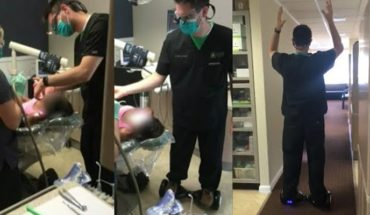 Dentist removes a tooth while riding a Hoverboard (Video)