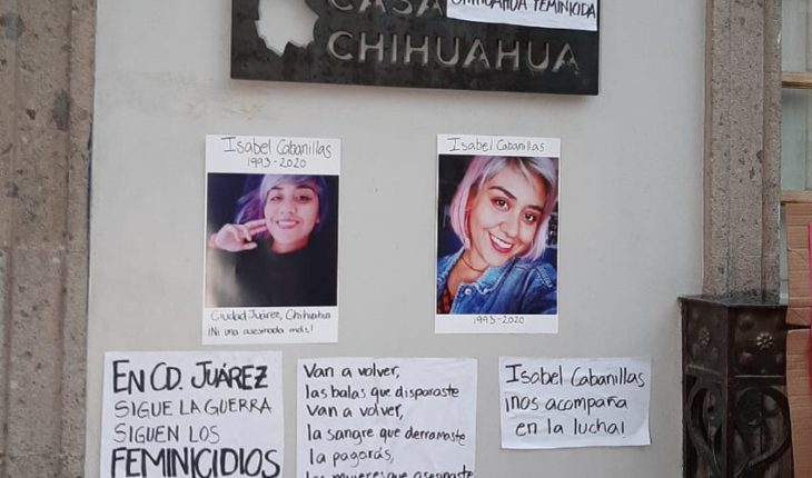 Feminists protest the murder of Isabel Cabanillas