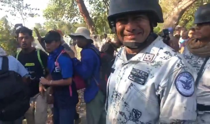 Guard says he will punish element that joked about throwing gas at migrants