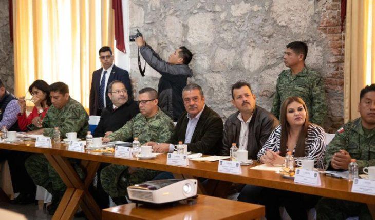 Raúl Morón reports that Morelia Government will be facilitator for National Guard tasks