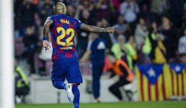 Spanish press praised Arturo Vidal's performance in Barcerlona's goal