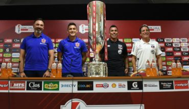 """The captains and technicians of Colo Colo and the """"U"""" met in the final final of Copa Chile"""