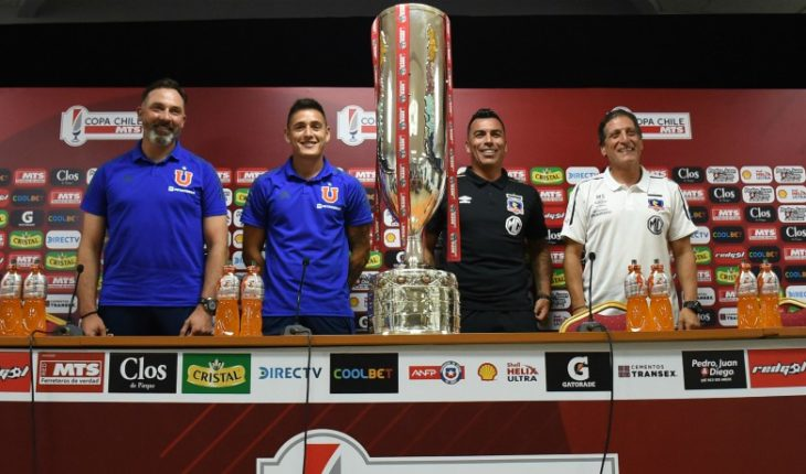 "The captains and technicians of Colo Colo and the ""U"" met in the final final of Copa Chile"