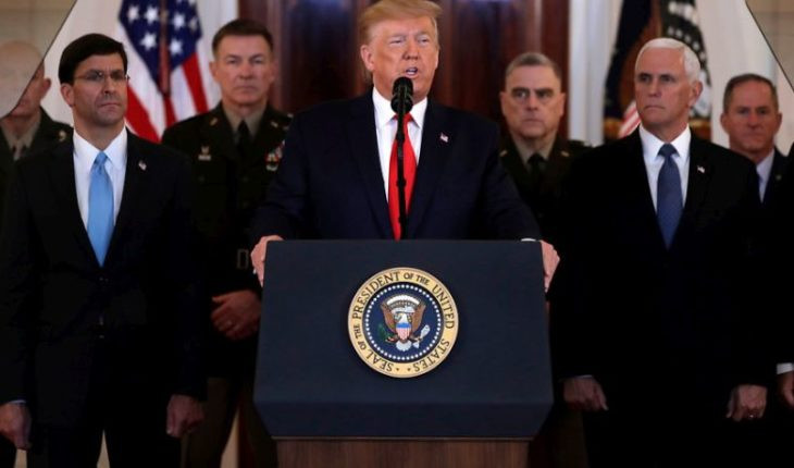 """Trump reiterated defense of Soleimani's murder and called him """"the world's number one terrorist""""."""