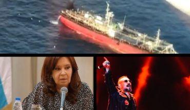 Buscan a tripulante de un pesquero; Cristina contra el FMI; homenaje a Charly en el Cosquín Rock y más...
