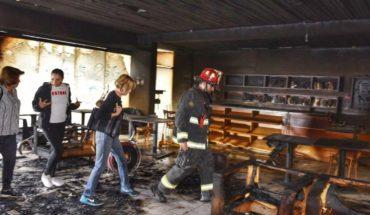 Café Literario de Providencia sufrió grave incendio y detiene su reinauguración de marzo