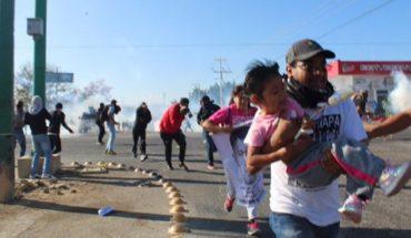 Comité de padres de los 43 denuncia represión de policía de Chiapas