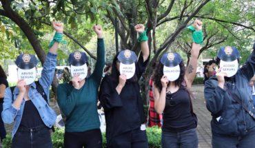 Con performance, mujeres protestan contra la violencia institucional