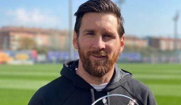 """Lionel Messi posó con el premio Laureus: """"Fue un verdadero honor"""""""