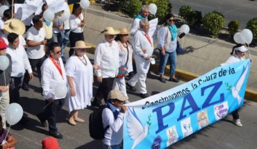 Marchan en Chilapa, Guerrero, por desaparecidos y alto a la violencia