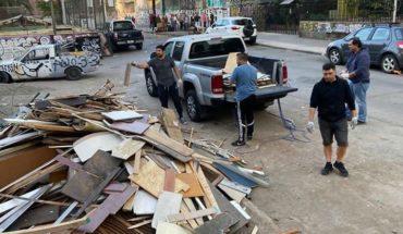 Municipalidad de Santiago multará a Carabineros por dejar escombros en la vía pública