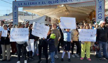 Padres de familia exigen justicia para Fátima; bloquean avenida en Xochimilco