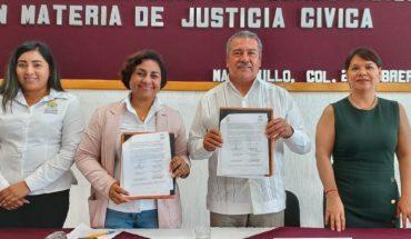 Raúl Morón signa convenio de colaboración entre Morelia y Manzanillo en materia de justicia cívica