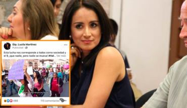 Tunden en redes a diputada del partido verde por invitar al paro nacional de mujeres
