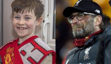 Un hincha de 10 años de Manchester United le pidió a Klopp que Liverpool pierda