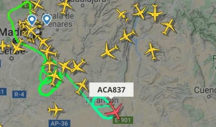 Air Canada plane without emergency landing wheel in Madrid