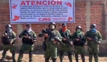 Alleged CJNG members arrive at CDMX and warn their rivals (Video)