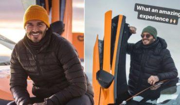 Beckham started swiring on ice behind the wheel of a McLaren