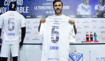 Fabián Cubero presented his farewell match at Vélez Stadium