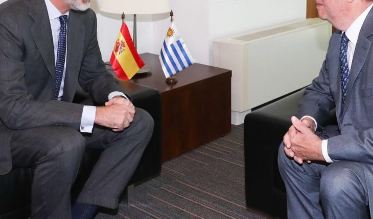 Felipe VI meets tabaré Vázquez in the face of the transfer of power in Uruguay