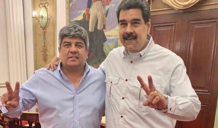 "Pablo Moyano visited Nicolás Maduro: ""we fight against Macri and defeat him"""