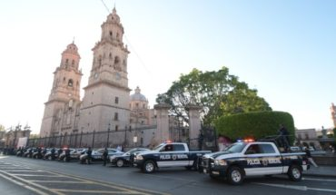 Raúl Morón delivers 25 patrols that will strengthen Morelia Police