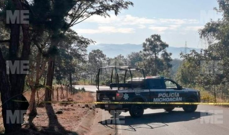 They find two bodies shot in the Uruapan-Paracho
